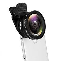 Набор линз для смартфона 2 в 1 Macro, Wide-angle GT6522