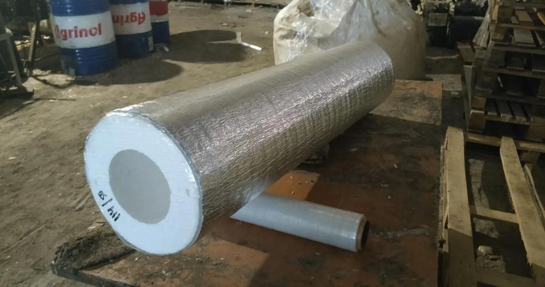 Утеплитель из пенопласта (пенополистирола) для труб Ø 32 мм толщиной 40 мм фольгированный
