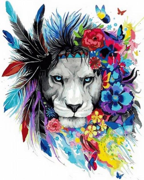 Картина по номерам Babylon Волшебный лев 40*50 см (в коробке) арт.VP1016