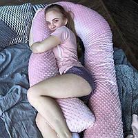 Подушка обнимашка U-образная для беременных XL - 120 см Плюшевая