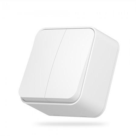 VIDEX BINERA Вимикач зовнішній 2кл білий (VF-BNS12-W) (12/120)