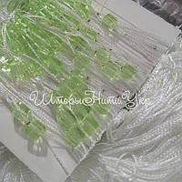 Шторы нити Белые со стеклярусом №1-15, фото 1