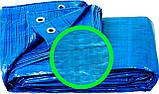 Тент универсальный полипропиленовый ламинированный с кольцами 10х12м, фото 2
