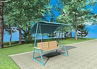 Садовые прочные качели с крышей (до 200 кг)