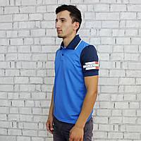 Футболка  мужская, ПОЛО, 44-54 размер, Турция. Модная молодежная футболка из коттона.