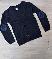 Кофта школьная детская для мальчика 6-14лет темно-синего цвета