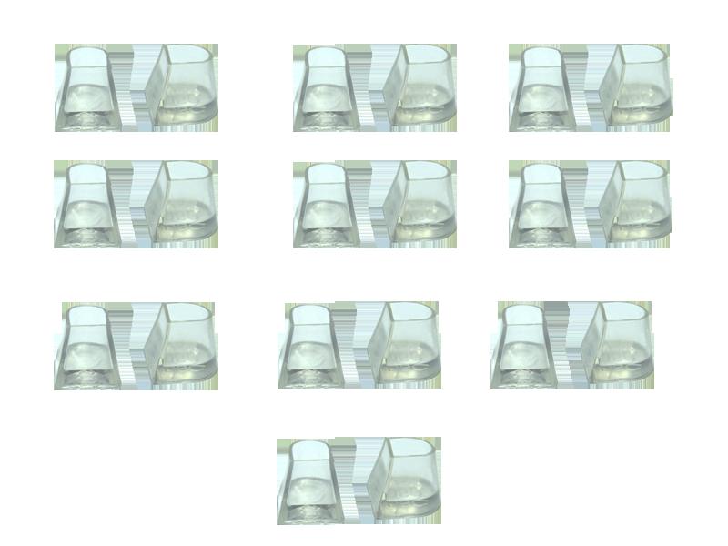 Накаблучники бальних танців Flare Cut (10 пар в упаковці)