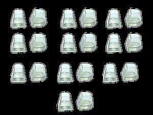 Накаблучники  бальных танцев Flare Cut (10 пар в упаковке)