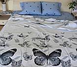 Комплект постельного белья полуторный Бязь GOLD 100% хлопок Бабочки, фото 2