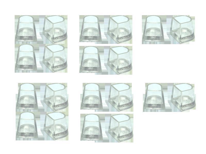 Накаблучники для бальних танців Contour(10 пар в упаковці)