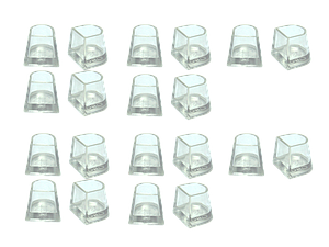 Накаблучники для бальных танцев Contour(10 пар в упаковке)