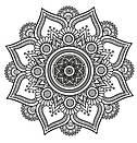 Наклейка на стену Ажурная мандала (мандала, менди, узор, индия, наклейка в изголовье кровати, декор йога), фото 2