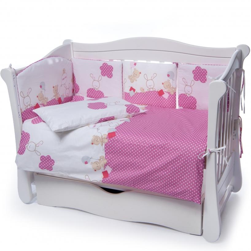 Детская постель Twins Comfort New 4052-C-125 4 эл Уточки розовые