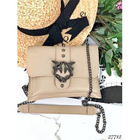 Cумка-клатч женская PINKO Love Bag на цепочке, бежевый, код FN-27712