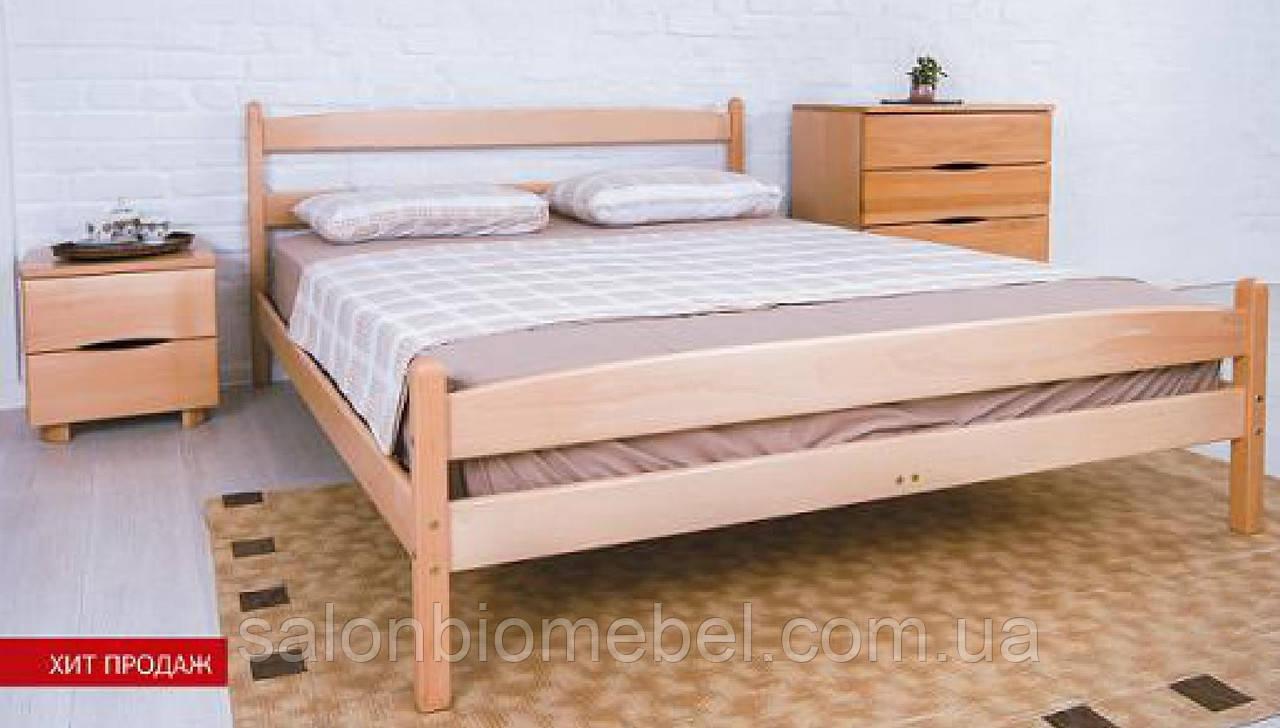 Кровать деревянная Ликерия 0,9 с изножьем