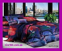Полуторный комплект постельного белья 3D Полуторний комплект постільної білизни 1.5-спальный  XHY2124