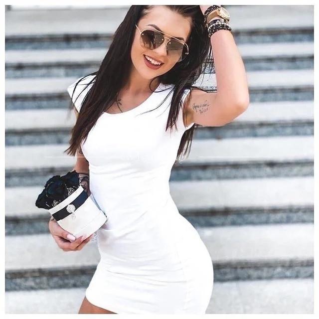 Летнее короткое платье футболка