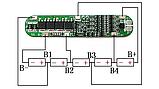Плата захисту BMS 5S 15A 18-21 для Li-Ion 18650 одноряд., фото 5