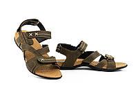 Подростковые босоножки кожаные летние оливковые StepWey Gamer 7561