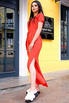 Червона сукня з розрізами Темми