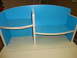 Детская парта BAMBI  НВ 2071-01-11 парта растишка с полочками, регулируется наклон столешницы киев, фото 5