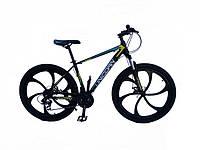 "Велосипед Unicorn Flash LD 18""/26"" на литых дисках Black & Green"