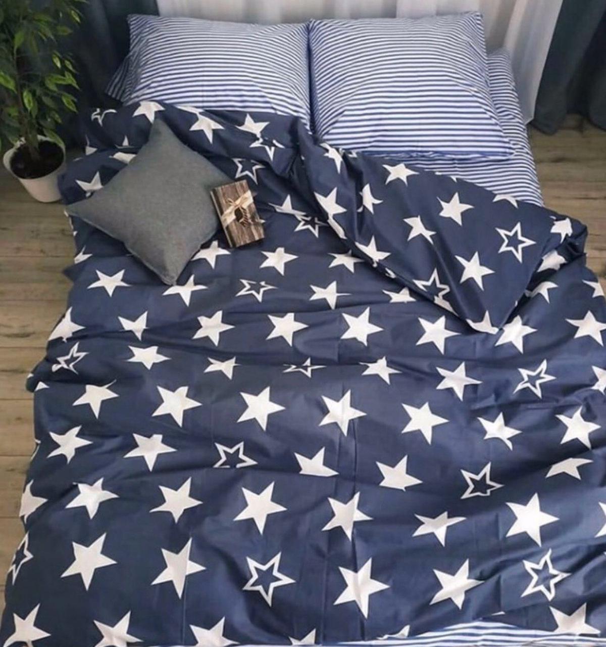 Комплект постельного белья полуторный Бязь GOLD 100% хлопок Андромеда