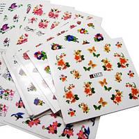Переводные водные наклейки для ногтей слайдер нейл-арт, 50 листов