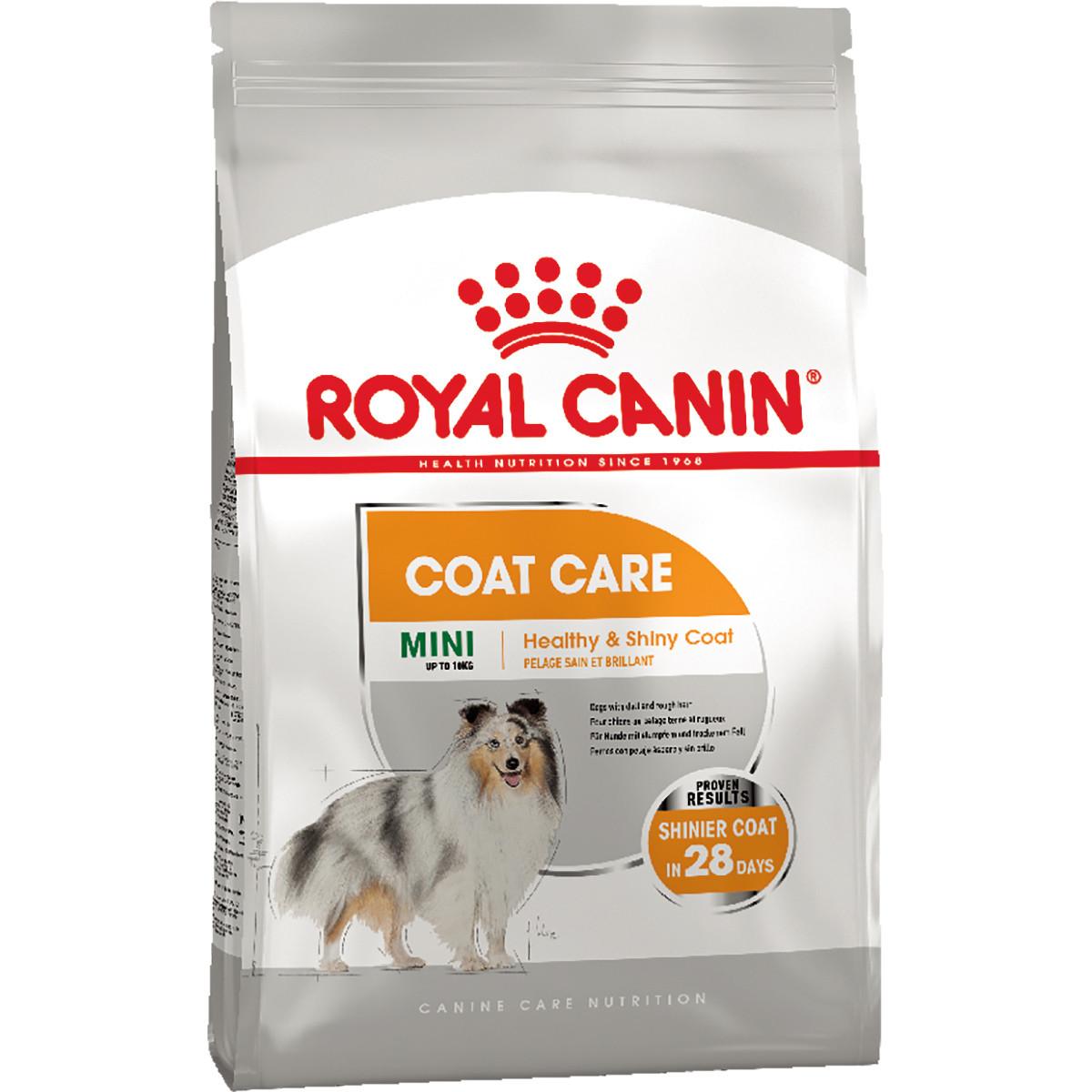 Royal Canin MINI COAT CARE 1кг - сухий корм для собак малих порід з тьмяною і сухий вовною