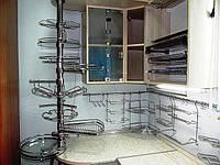 Фурнитура и комплектующие для кухонной мебели, хромированные элементы декора и аксессуары (рейлинговая система, брная система).