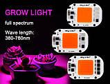 Фито Светодиод 60 W 144 кристалла Smart IC 60W полный фитоспектр фито для растений №503, фото 6