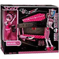 Wels Кукольный игровой набор Monster High Draculaura Кровать Дракулауры Monster High Draculaura Jewelry Box Coffin, фото 1