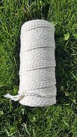 Эко шнур хлопковый крученный 4мм №2 Айвори