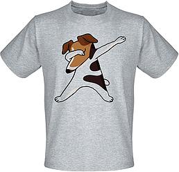 Футболка Fat Cat Jack Russell Terrier dog dabbing (меланж)