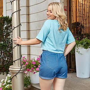 Женские шорты легкие с джинса коттона, с карманами(48-58), фото 2