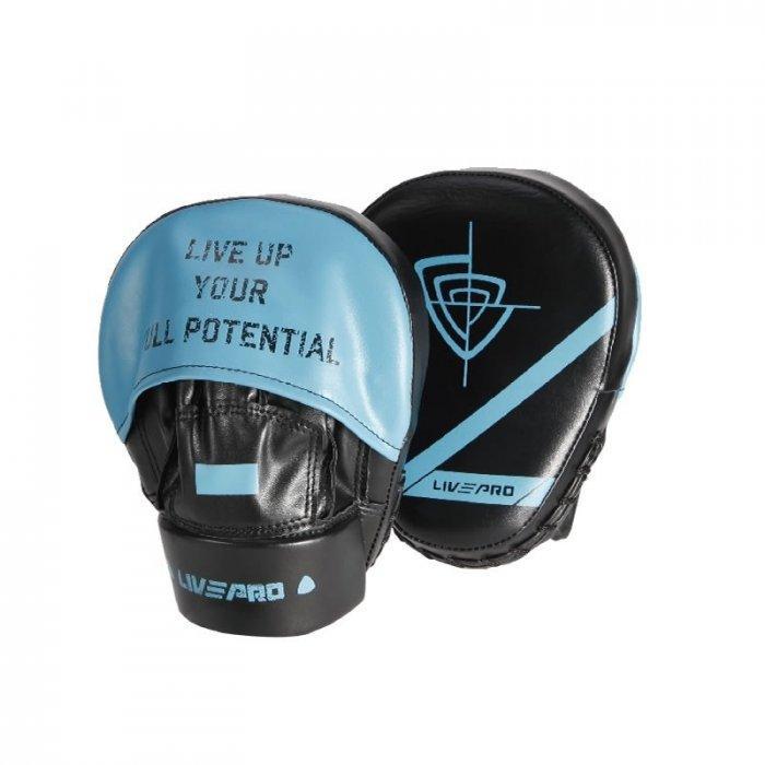 Лапы боксерские LivePro Fous Pad Black-Blue (LP8604)