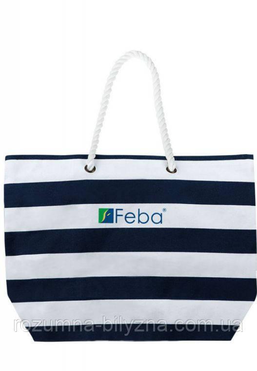 Пляжна сумка жіноча в полоску. ТМ Feba. Польша.