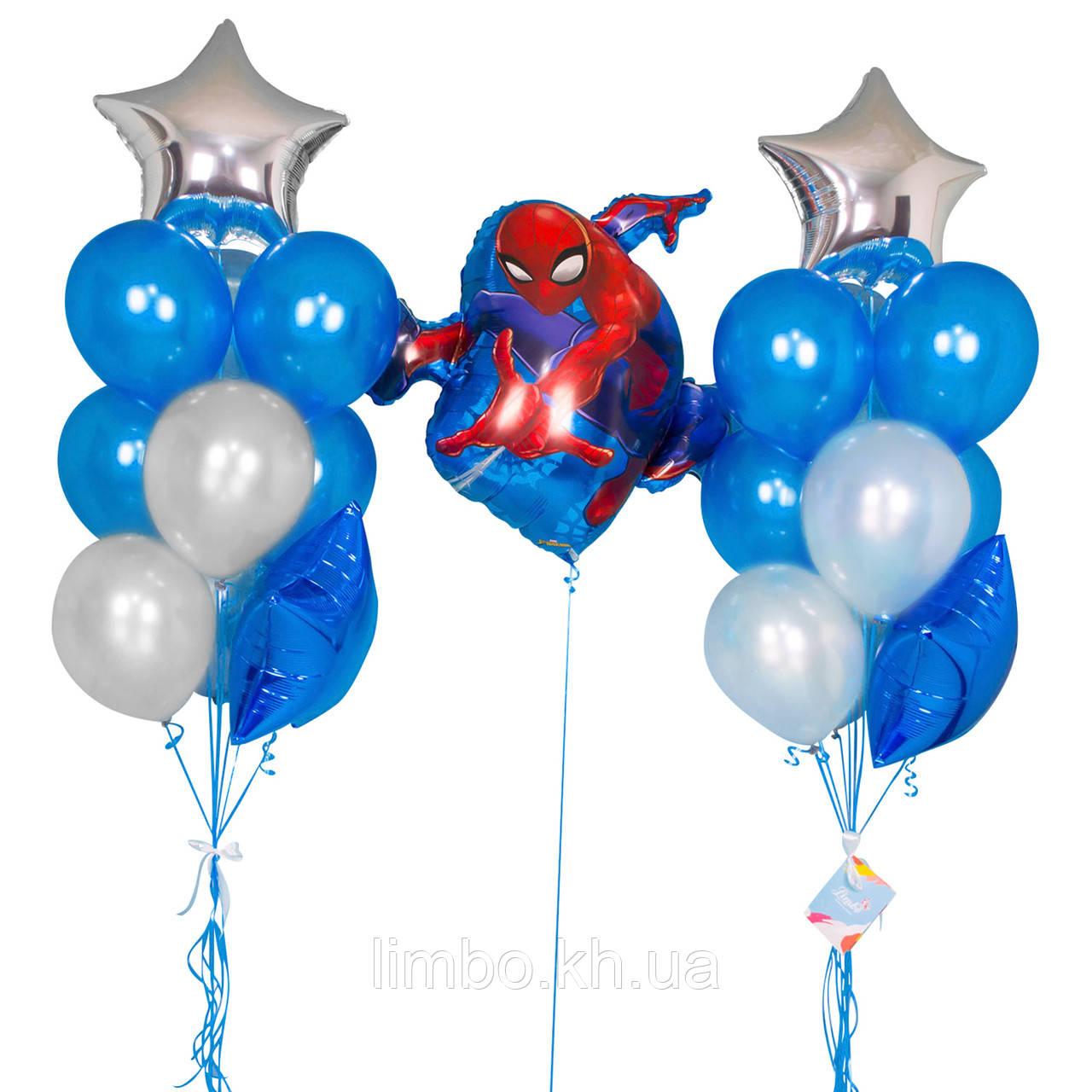 Кулі на день народження хлопчика з фольгированной фігурою Спайдермен