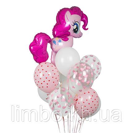 Розовые шарики на день рождения с фигурой  Пинки Пай, фото 2