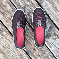 Чорні сліпони чоловічі та унісекс аквашузы чорні сліпони чоловічі та жіночі сітка кросівки, фото 2