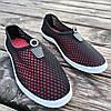 Чорні сліпони чоловічі та унісекс аквашузы чорні сліпони чоловічі та жіночі сітка кросівки, фото 4