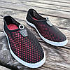 Чорні сліпони чоловічі та унісекс аквашузы чорні сліпони чоловічі сітка кросівки, фото 4