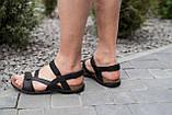 Мужские сандали кожаные летние черные-коричневые, фото 8