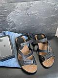 Мужские сандали кожаные летние черные-коричневые, фото 10