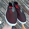 Черные слипоны мужские и унисекс аквашузы чорні сліпони чоловічі та жіночі сетка кроссовки, фото 2