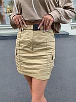 Юбка карго женская с поясом