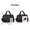 """Городская сумка Calvin Klein для ноутбука до 18"""". Спортивная сумка через плечо. Черная сумка для учебы., фото 10"""