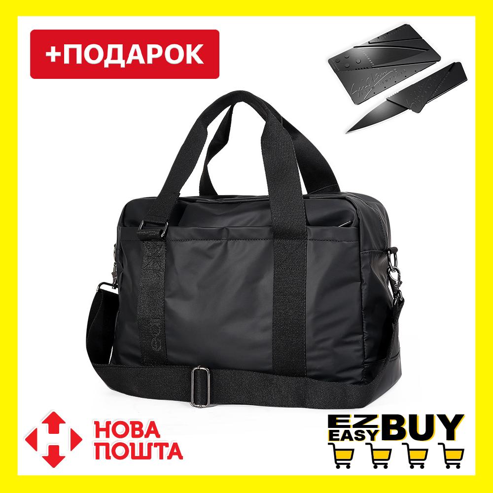 """Городская сумка Calvin Klein для ноутбука до 18"""". Спортивная сумка через плечо. Черная сумка для учебы."""