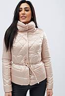 Женская демисезонная куртка с воротником стойка бежевая LS-8774-10