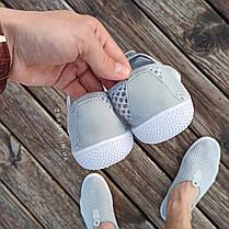 Сірі сліпони чоловічі та унісекс аквашузы сірі сліпони чоловічі сітка кросівки, фото 3